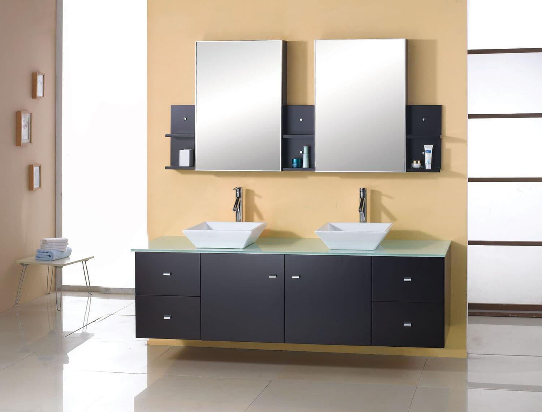 Bathroom And Vanities Remodeling Kitchen Miami Double Sink Vanity With Makeup Counter